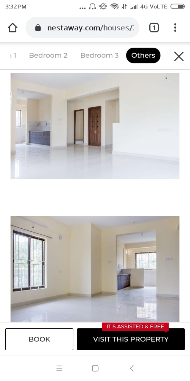3 BHK Semi Furnished Flat for rent in Kalena Agrahara for ?18000, Bangalore